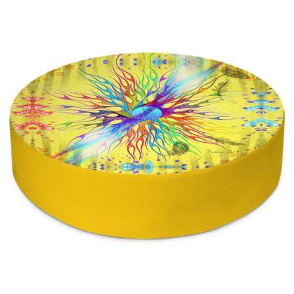 Round Floor Cushion, Circle of Life