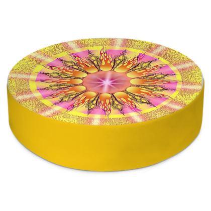 Round Floor Cushion, Sundance Mandala