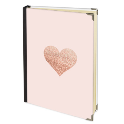 ROSEGOLD HEART BLUSH  -Address Book