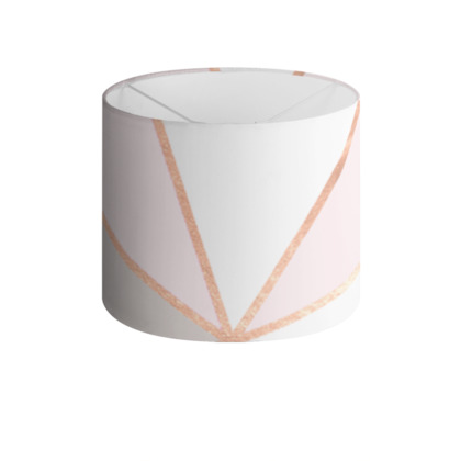 GEO SUNBURST ROSEGOLD PASTEL - Drum Lamp Shade