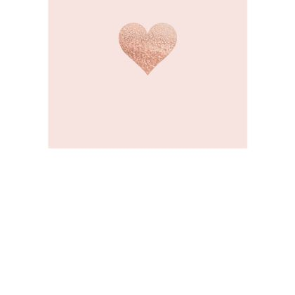 ROSEGOLD HEART BLUSH - Postcards