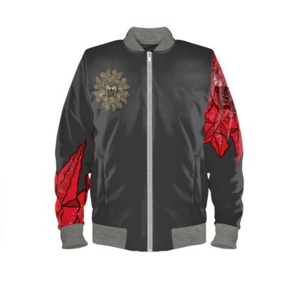 'Ruby Rage' Mens Bomber Jacket