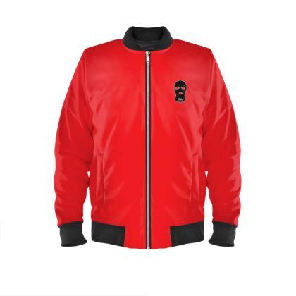 ALESI SKI MASK BOMBER JACKET- Black/Red
