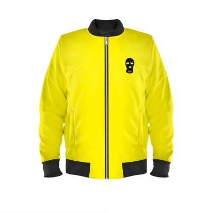 ALESI SKI MASK BOMBER JACKET- Black/Yellow