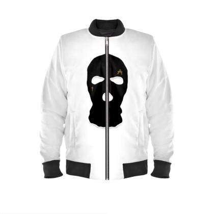 ALESI SKI MASK BOMBER JACKET- White/Black