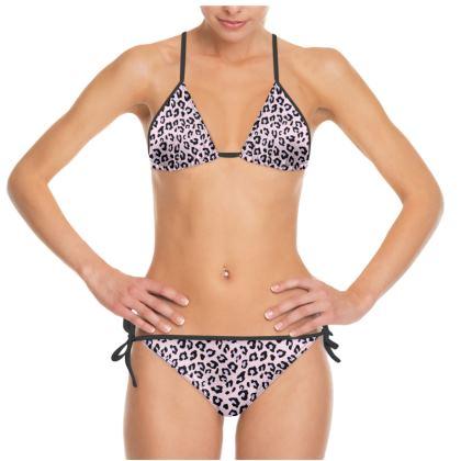 Leopard Print - Lavender Blush Bikini