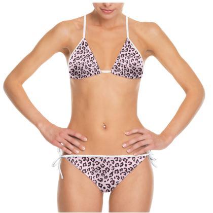 Leopard Print - Pink Chocolate Bikini
