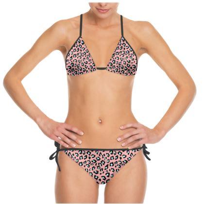 Leopard Print - Icy Peach Bikini