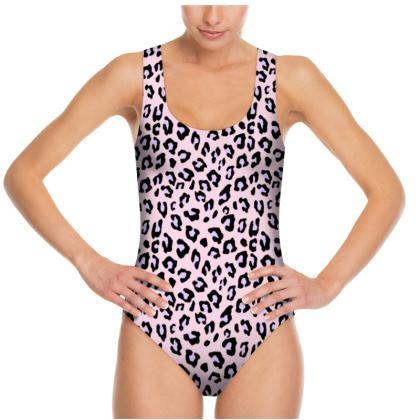 Leopard Print - Lavender Blush Swimsuit
