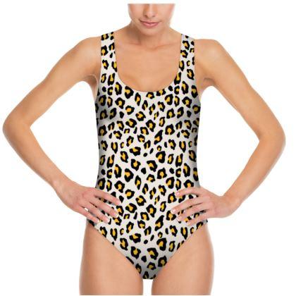 Leopard Print - Mustard Yellow Swimsuit