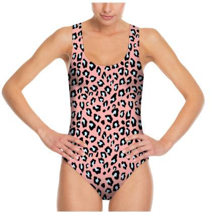 Leopard Print - Icy Peach Swimsuit