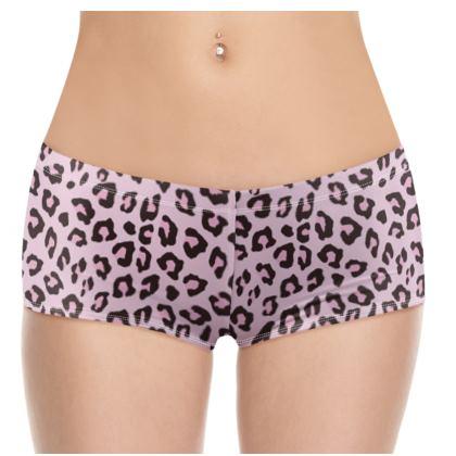 Leopard Print - Pink Chocolate Shorts