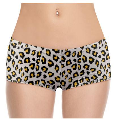 Leopard Print - Mustard Yellow Shorts