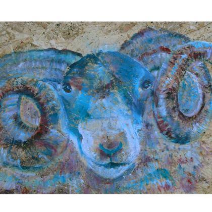 Blue Ram Director's Chair