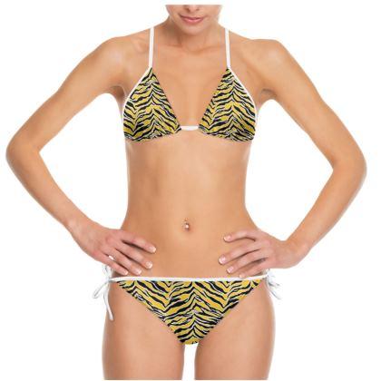 Tiger Print - Mustard Yellow Bikini
