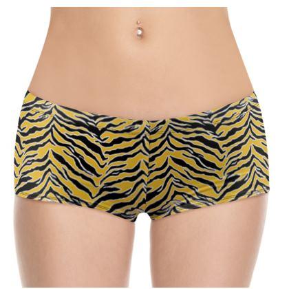 Tiger Print - Mustard Yellow Shorts