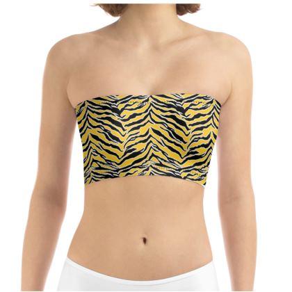 Tiger Print - Mustard Yellow Tube Top