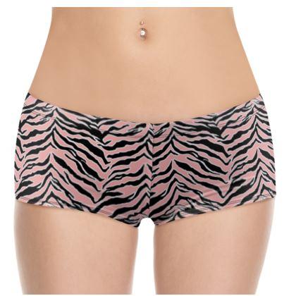 Tiger Print - Blush Peach Shorts