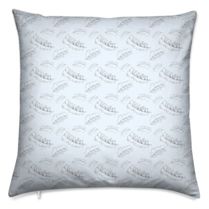Baby blue feather Cushions