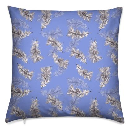 Violet feather Cushions