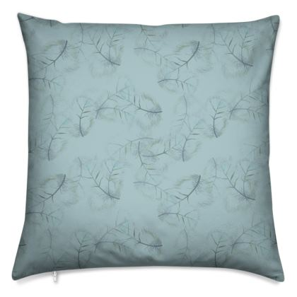 Falling feather blue Cushions