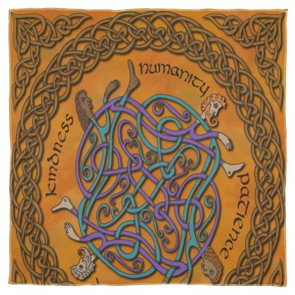 'Humanity' Celtic Knotwork Scarf, Wrap or Shawl