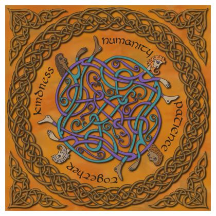 'Humanity' Celtic Knotwork China Plate