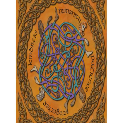 'Humanity' Celtic Knotwork Tray