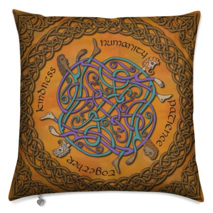 'Humanity' Celtic Knotwork Cushion
