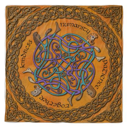 'Humanity' Celtic Knotwork Throw