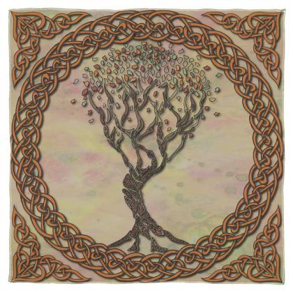 Celtic Tree Scarf, Wrap or Shawl