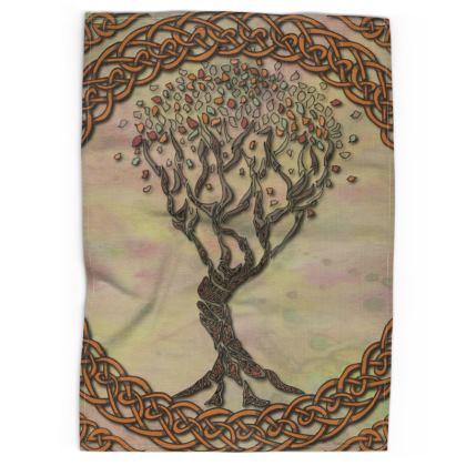 Celtic Tree Tea Towel