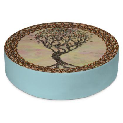 Celtic Tree Round Floor Cushion