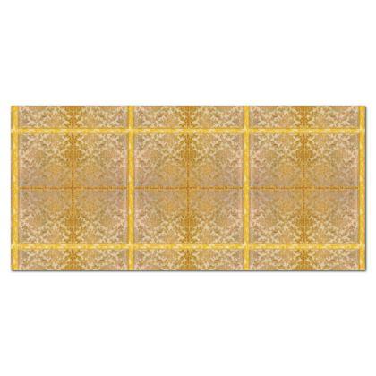 Tischdecke 300 x 140 cm Panama Stoff fein abgenäht
