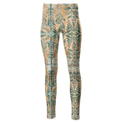 192,- Taillenhohe Leggings GRAND HOTEL Leggings size M crushed Velours, high waist, extrem taller Tragekomfort