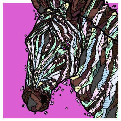 "Abstract Zebra Cushion - 20"" X 20"""