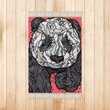 Abstract Panda Rug - 90 X 63cm