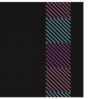 Colorful Striped Design Slip Dress