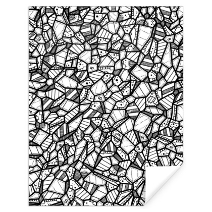 Geometric Pattern Gift Wrap - 61 X 79cm