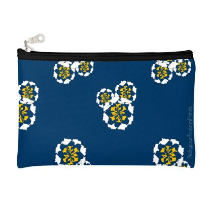 Geometric Floral pouch