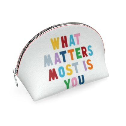 """""""What Matters Most is You"""" - Shell Coin Purse"""