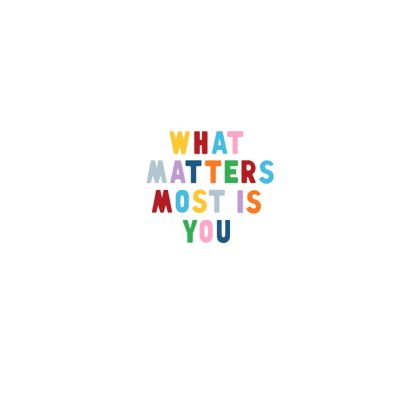 """What Matters Most is You"" - Shell Coin Purse"