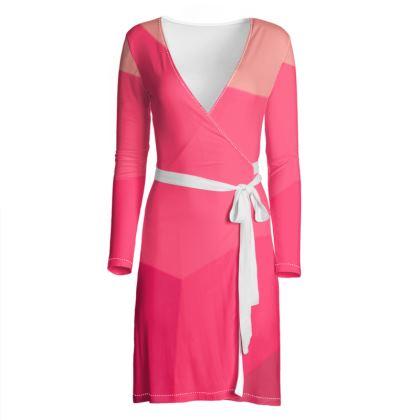 Beautiful Shades of Pink Wrap Dress ©