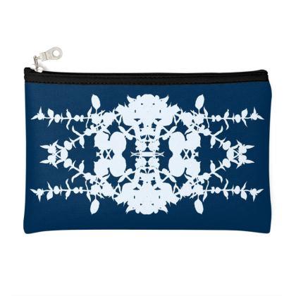 Blue diamond pouch