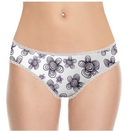 Black and White Knickers