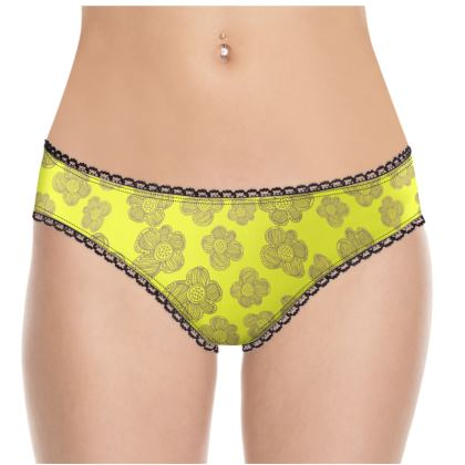 Sketched Flowers Knickers