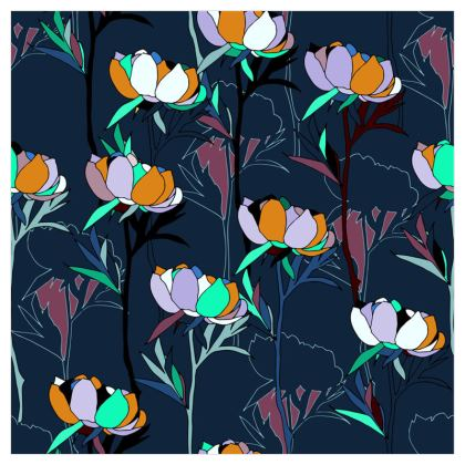 Peony Collection / Blues - Wallpaper