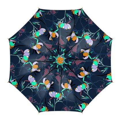 Peony Collection / Blue - Luxury Umbrella