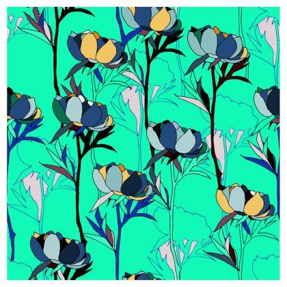Peony Collection / Blues - Luxury Umbrella