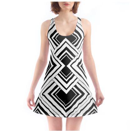 Beach Dress Black And White